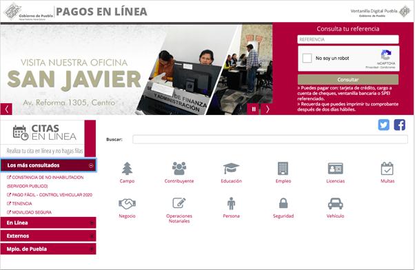 Cita para antecedentes no penales de Puebla