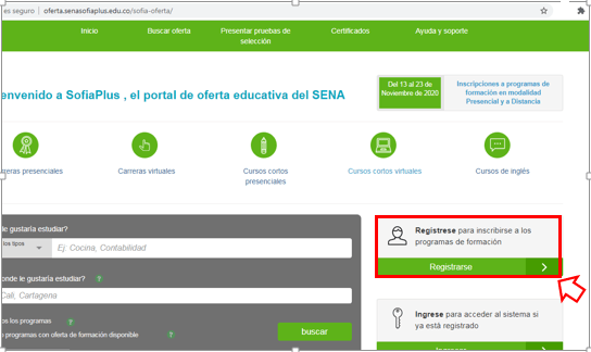 Registro Sena Sofia Plus